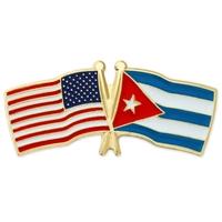 USA and Cuba Flag Pin