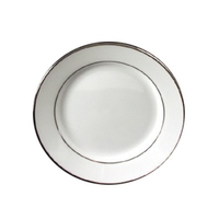Platinum Banded Rim Style Dinnerware, Plate, 7 3/4""