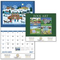 Stapled Folk Art Americana Appointment Calendar