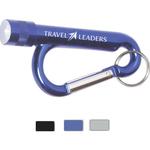 Metal Carabiner Flashlight w/Split Ring