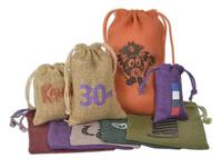 Colored Jute/Burlap Drawstring Bag