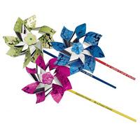 """7"""" Metallic Hibiscus Pinwheels"""