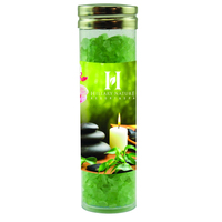 Large Gourmet Plastic Tube with Spa Bath Salt Crystals