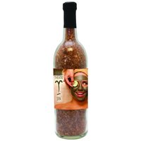 Wine Bottle with Spa Bath Salt Crystals