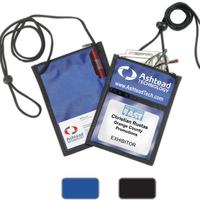 420D Polyester 5 Function Tradeshow Badgeholder & NeckWallet