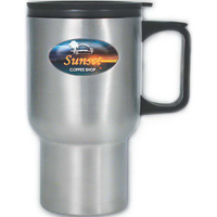 Brand Gear (TM) Stainless Steel Travel Mug (TM)