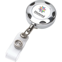 "32"" Cord Chrome Solid Metal Sport Retractable Badge Reel"