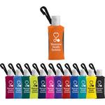 1 oz Custom Label Sanitizer in a Clip