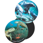 Lenticular Animated Flip Image Magnet - Small Oval Shape