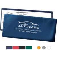 Blue Insurance Card, Lottery Ticket or Coupon Holder