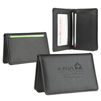 Signature leather business card wallet case
