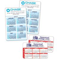 6-Month Calendar On Each Side Wallet Card