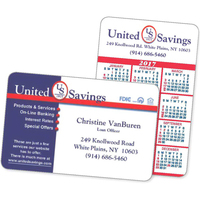 Calendar and Business Card - Wallet Card