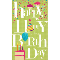 Happy Happy Birthday Greeting Card