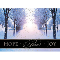 Silver Hope Peace and Joy Greeting Card