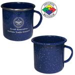 18oz Blue Enameled Steel Campfire Mug, spot color