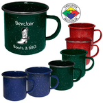 24oz Enameled Steel Campfire Mug with Stainless Steel Rim