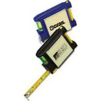 "6'6"" Tape Measure with Level, Note Pad and Pen"