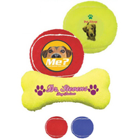 Full Color Transfer - Bone Shaped Toy Tennis Ball