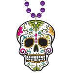 Round Mardi Gras Beads with Custom Polystone Medallion