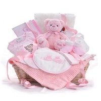 Cute & Cozy Pink Baby Girl Gift Basket