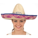Multicolored Straw Sombrero