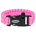 Paracord Pink Bracelet with Whistle