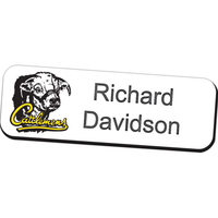 Slimline engraved name badge