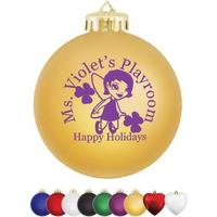 "3 1/4"" Satin Round Shatterproof Ornament"