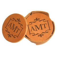 Leather Coaster Holder Sets of 4
