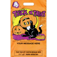 "11"" x 18"" Stock Design Plastic Coupon Halloween Bags"