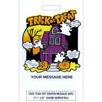 "11"" x 18"" Stock Design Metallic Coupon Halloween Bags"