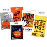 Custom Printed Metallic Grab Style Halloween Bag