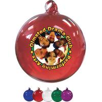 "3"" Hand Blown Glass Ornament (Full Color)"