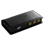 PVC Black Cover with Sticky Notes and Plain Paper Note Pad