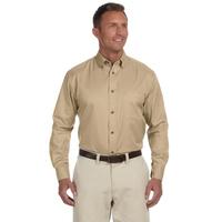 Harriton Men's Tall Easy Blend™ Long-Sleeve Twill Shirt w...