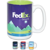 15 oz Mighty Two-Tone Ceramic Mug
