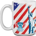 15 oz White USA Made Mug