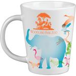 12 oz White Ceramic Short Latte Mug