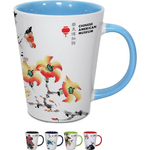 12 oz Ceramic Two-Tone Latte Mug