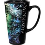 Ceramic 16 oz Black Tall Latte Mug