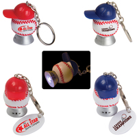 Light Up Baseball and Baseball Hat Key Tag