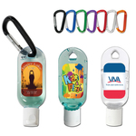 1 oz. Hand Sanitizing Gel Flip-Top Bottle with Carabiner