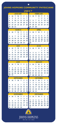 Year On-A-Page Calendar Card