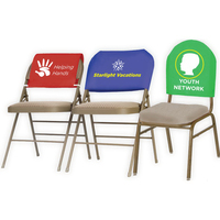 Non-Woven Economy Chair Advertising Covers - Laid Flat