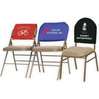 Reusable Fabric Chair Advertising Covers - Fitted