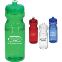 Poly Clear Sports Bottle, 24 oz