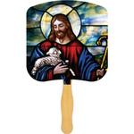 Religious Hand Fans - Spot Color