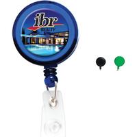 Round Domed Badge Holder with Slide on Clip