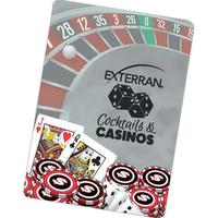 Casino Night Back Poker Size Playing Cards